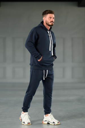 Set Easy-Fit hanorac Oversized si pantalon Easy-Fit Navy [4]