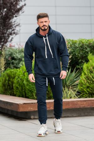 Set Easy-Fit hanorac Oversized si pantalon Easy-Fit Navy [1]