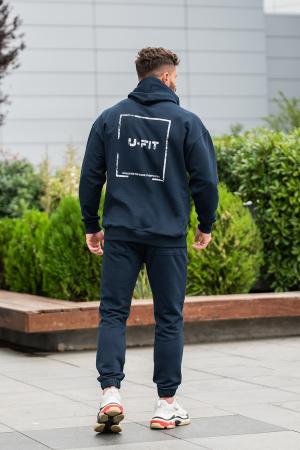 Set Easy-Fit hanorac Oversized si pantalon Easy-Fit Navy [0]