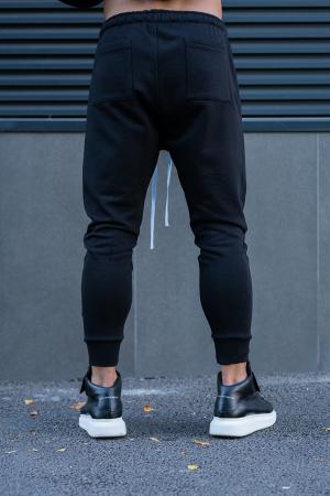 Set Easy-Fit bluza imprimata si pantalon conic White/Black [9]