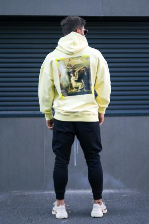 Set Easy-Fit hanorac imprimat si pantalon conic Yellow/Black [0]