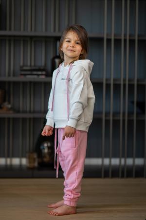 Set Easy-Fit Kids hanorac si pantalon White/Rose [0]