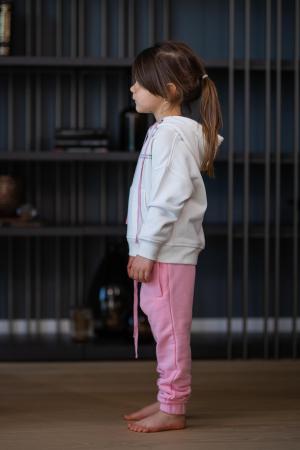 Set Easy-Fit Kids hanorac si pantalon White/Rose [2]