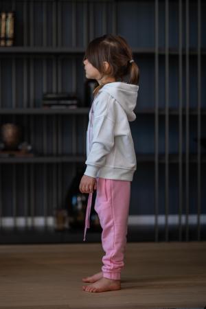 Set Easy-Fit Kids hanorac si pantalon White/Rose [3]