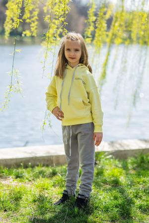 Set Easy-Fit Kids hanorac si pantalon Yellow/Grey [2]