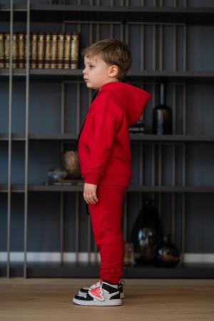 Set Easy-Fit Kids hanorac si pantalon rosu [4]