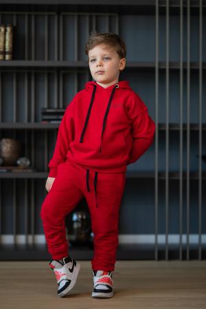 Set Easy-Fit Kids hanorac si pantalon rosu [0]