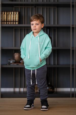 Set Easy-Fit Kids hanorac si pantalon Mint/Grey anthracite [0]