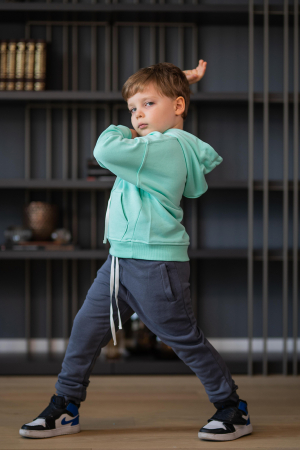 Set Easy-Fit Kids hanorac si pantalon Mint/Grey anthracite [5]