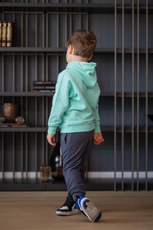 Set Easy-Fit Kids hanorac si pantalon Mint/Grey anthracite [2]