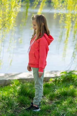 Set Easy-Fit Kids hanorac si pantalon Coral/Light Green [3]