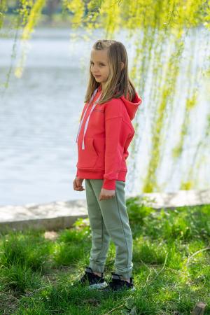Set Easy-Fit Kids hanorac si pantalon Coral/Light Green [1]