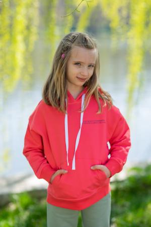 Set Easy-Fit Kids hanorac si pantalon Coral/Light Green [4]