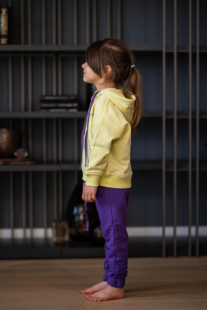 Set Easy-Fit Kids hanorac si pantalon yellow/mueve [1]