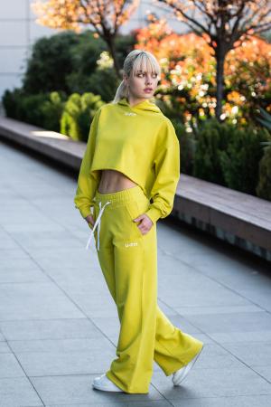 Set Love hanorac imprimat si pantalon Lime Green [5]