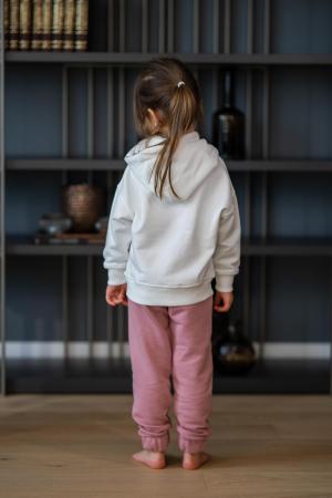 Set Easy-Fit Kids hanorac imprimat si pantalon White/Rose Quartz [1]