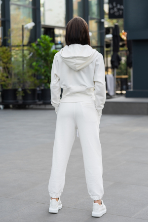 Set Cotton Cloud hanorac si pantalon Off White [4]