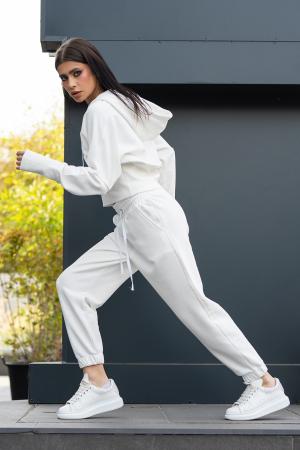 Set Cotton Cloud hanorac si pantalon Off White [1]