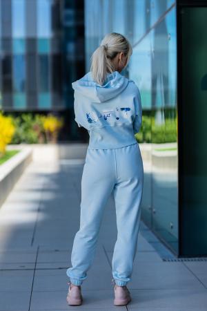 Set Cotton Cloud hanorac si pantalon Sky Blue [0]