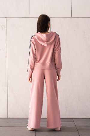 Set Line-Fit hanorac si pantalon Rose Quartz [2]