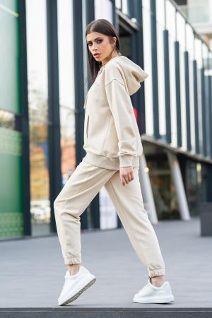 Set Easy-Fit hanorac si pantalon Oversized Light Beige [0]