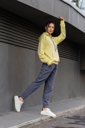 Set Easy-Fit hanorac si pantalon Oversized Yellow/Anthracite Grey [2]