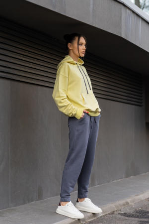 Set Easy-Fit hanorac si pantalon Oversized Yellow/Anthracite Grey [0]