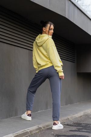 Set Easy-Fit hanorac si pantalon Oversized Yellow/Anthracite Grey [4]