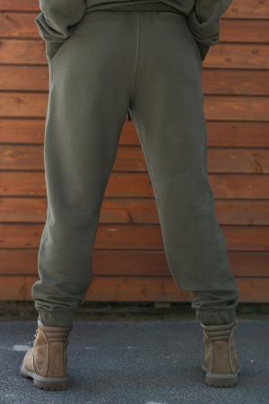 Set hanorac si pantalon Oversized Easy-Fit dark olive [6]