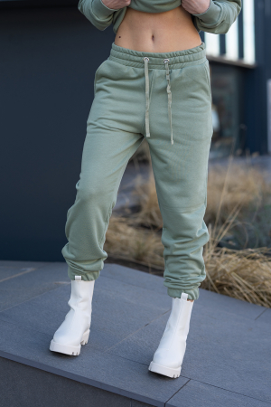 Set Easy-Fit hanorac si pantalon Oversized Light Olive [12]