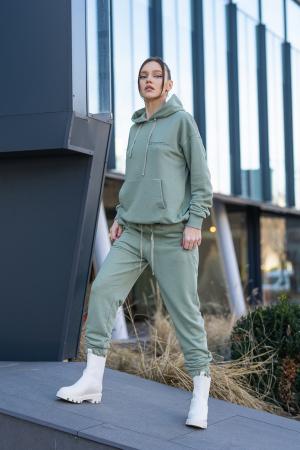 Set Easy-Fit hanorac si pantalon Oversized Light Olive [1]