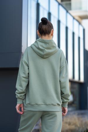 Set Easy-Fit hanorac si pantalon Oversized Light Olive [11]