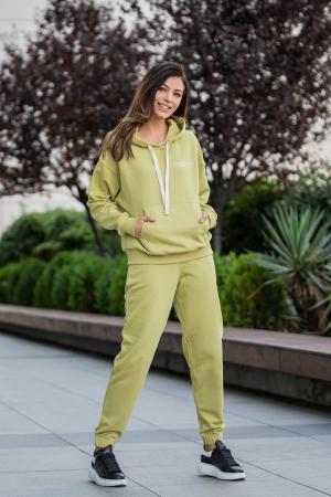 Set Easy-Fit hanorac oversized si pantalon Green Leaf [1]