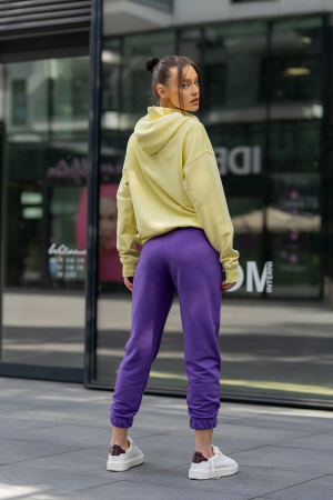 Set hanorac si pantalon Oversized Easy-Fit Yellow/Mauve [4]