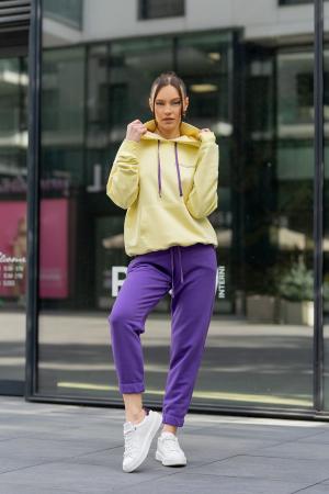 Set hanorac si pantalon Oversized Easy-Fit Yellow/Mauve [0]