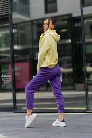 Set hanorac si pantalon Oversized Easy-Fit Yellow/Mauve [3]