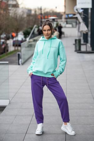Set hanorac si pantalon Oversized Easy-Fit Mint/Mauve [5]