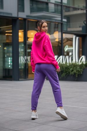 Set hanorac si pantalon Oversized Easy-Fit Magenta/Mauve [2]