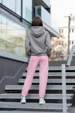 Set hanorac si pantalon Oversized Easy-Fit Grey/Rose [3]
