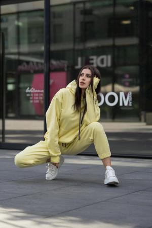 Set Easy-Fit hanorac si pantalon Oversized Yellow [2]