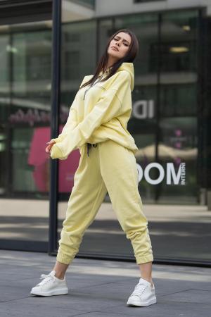 Set Easy-Fit hanorac si pantalon Oversized Yellow [1]
