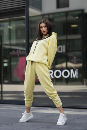 Set Easy-Fit hanorac si pantalon Oversized Yellow [0]