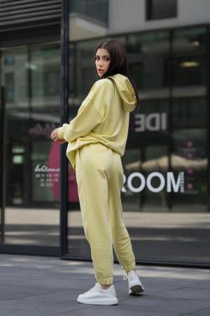 Set Easy-Fit hanorac si pantalon Oversized Yellow [3]
