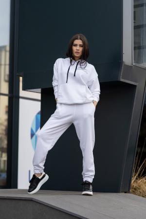 Set hanorac si pantalon Oversized Easy-Fit Off White [4]