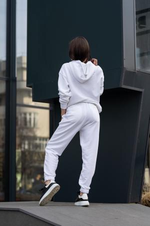 Set hanorac si pantalon Oversized Easy-Fit Off White [6]