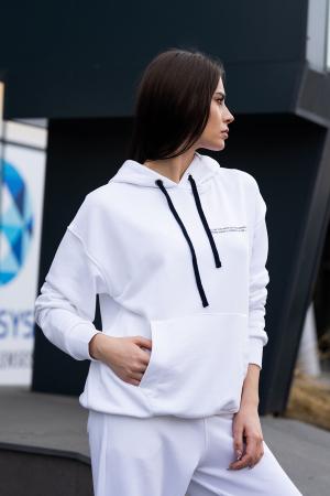 Set hanorac si pantalon Oversized Easy-Fit Off White [10]
