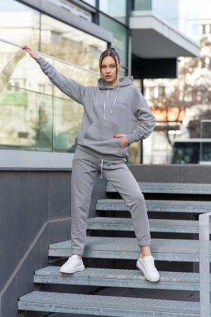 Set hanorac si pantalon Oversized Easy-Fit Grey [1]