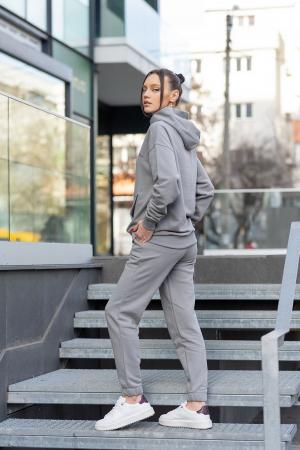 Set hanorac si pantalon Oversized Easy-Fit Grey [2]