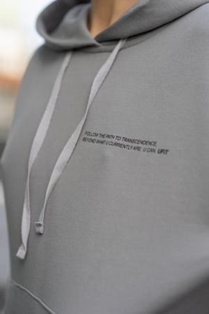 Set hanorac si pantalon Oversized Easy-Fit Grey [4]