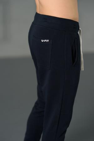 Set Kali-Fit hanorac si pantalon conic cu tur lasat Navy [10]